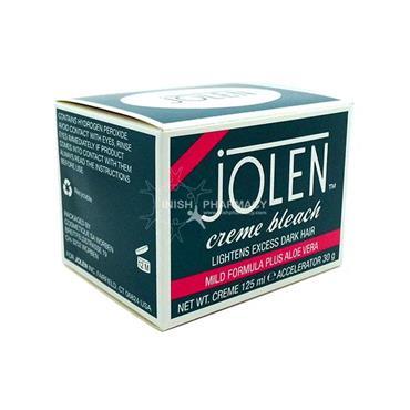 Jolen Creme Bleach Lightens Excess Dark Hair Mild Formula 125ml