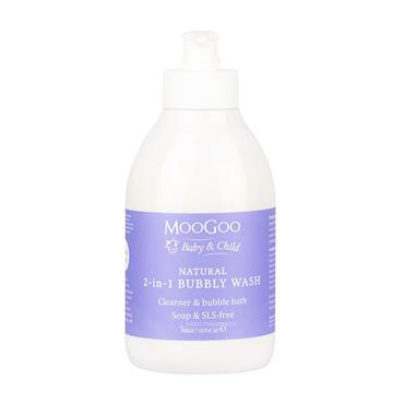 MooGoo Baby & Child Natural 2-In-1 Bubbly Wash for Sensitive Skin 500ml