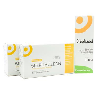 Blepha Mini Deal 2 x Blephaclean Wipes 1 x Blephasol Micelle Lotion
