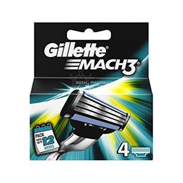Gillette Mach 3 Blades 4 Pack
