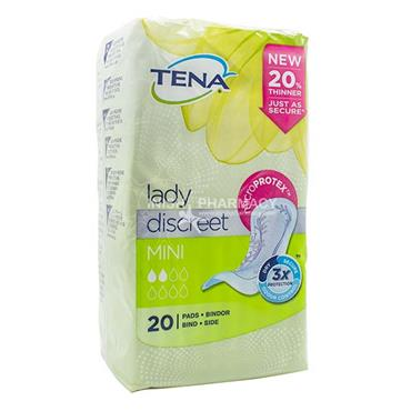Tena Lady Discreet Mini Pads 20 Pack