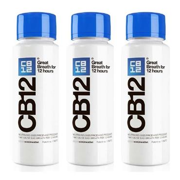 CB12 Mint Menthol Mouthwash 250ml Triple Pack