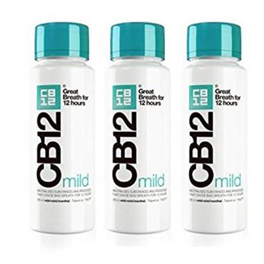 CB12 Mild Mint Mouthwash 250ml Triple Pack