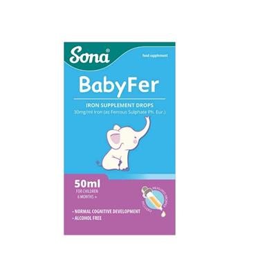 Sona Babyfer - Iron Supplement Drops for Babies and Children 50ml