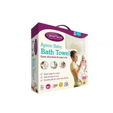 Cleva Mama Splash and Wrap Baby Bath Towel Cream