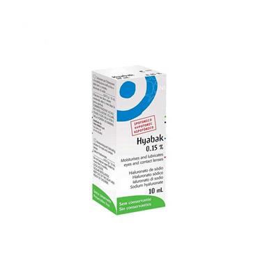 Hyabak 0.15% Eye Drops 10ml