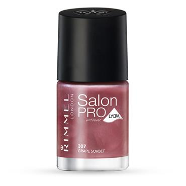 Rimmel Salon Pro Nail Polish Grape Sorbet 307 12ml