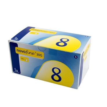 Novofine 30G 8mm Needles 100 Pack