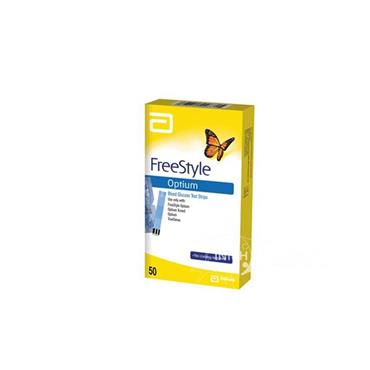 FreeStyle Optium Blood Glucose Test Strips 50 Pack