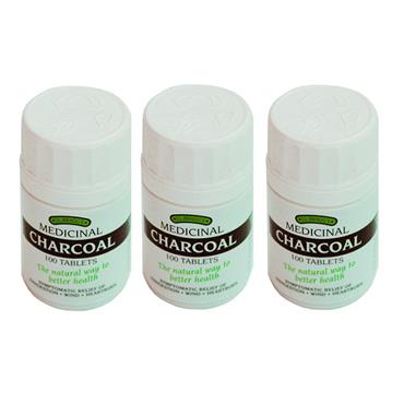 J.L. Braggs Medicinal Charcoal Tablets Triple pack (3 x 100)