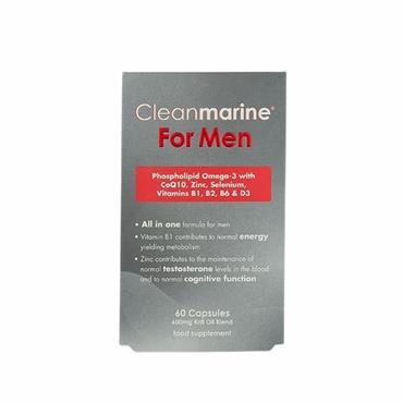 Cleanmarine Omega 3 Krill Oil for Men 60 Capsules