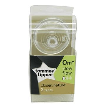 Tommee Tippee Closer To Nature Teats 0m+ Slow Flow 2 Pack