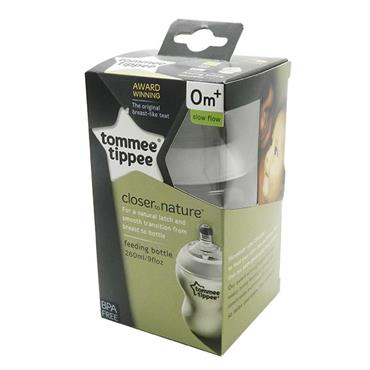 Tommee Tippee Closer To Nature Feeding Bottle 0m+ Slow Flow 260ml