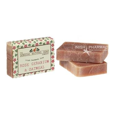 The Donegal Natural Irish Soap Company Handmade Irish Soap Rose Geranium & Oatmeal