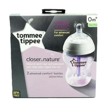 Tommee Tippee Closer To Nature Advanced Comfort Bottles Slow Flow 0m+ 2 Pack