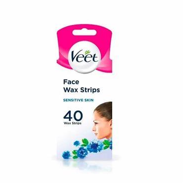 Veet Face Wax Strips For Sensitive Skin 40 Pack