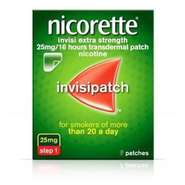 Nicorette Invisi Extra Strength 25mg Step 1 Patches 14 Pack