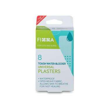 FIXXA Tough Water Blocker Plasters Universal 8 Pack