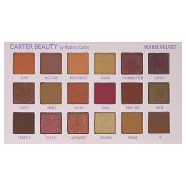 Carter Beauty Warm Velvet 18-shade Palette