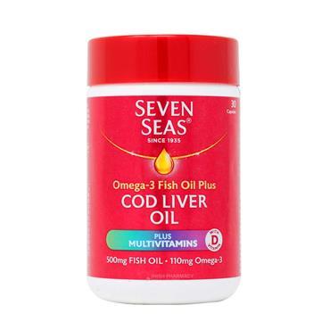 Seven Seas Cod Liver Oil + Multivitamins 30 Capsules