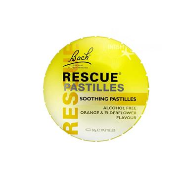 Bach Rescue Remedy Pastilles Orange & Elderflower Flavour 50g