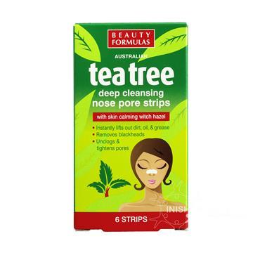 Beauty Formulas Tea Tree Nose Pore Strips 6 Pack