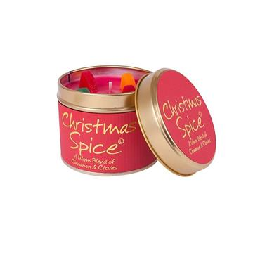 Lily Flame Candle In A Tin Christmas Spice