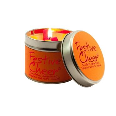 Lily Flame Candle In A Tin Festive Cheer