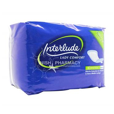 Interlude Incontinence Pads Extra 10 Pack