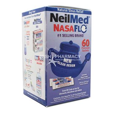 NeilMed Nasaflo Net Pot 60 Premixed Sachets