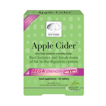 New Nordic Apple Cider Mega Strength 1000mg 30 Tablets