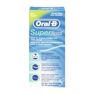 Oral B Superfloss 50 Pre-Cut Strands