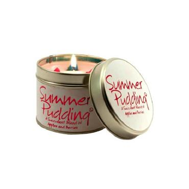 Lily Flame Candle In A Tin Summer Pudding