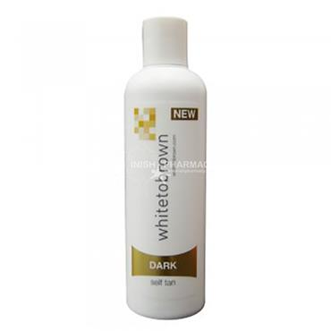 White to Brown Self Tan Lotion Dark 250ml
