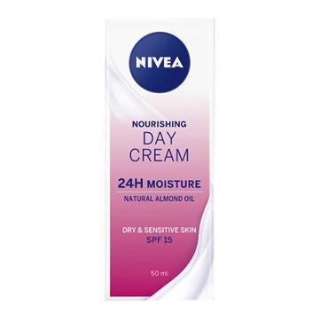 Nivea Nourishing Day Cream Dry & Sensitive Skin SPF15 50ml