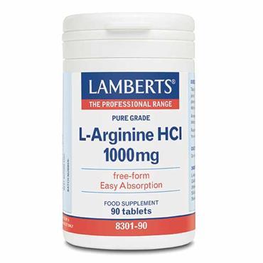 Lamberts L-Arginine HCI 1000mg 90 Tabs