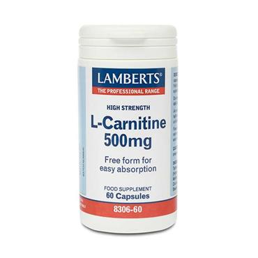 Lamberts High Strength L-Carnitine 500mg 60 Capsules
