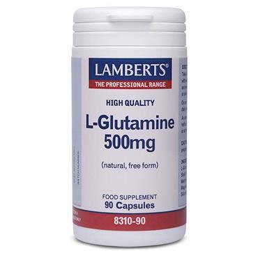 Lamberts L-Glutamine 500mg (Natural Free Form) 90 Capsules
