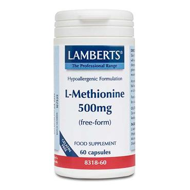 Lamberts L-Methionine 500mg (Free-Form) 60 Caps