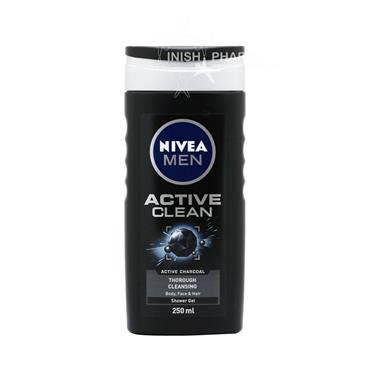 Nivea Men Shower Active Clean Charcoal 250ml