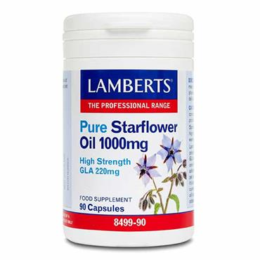Lamberts Pure Starflower Oil 1000mg 90 Capsules
