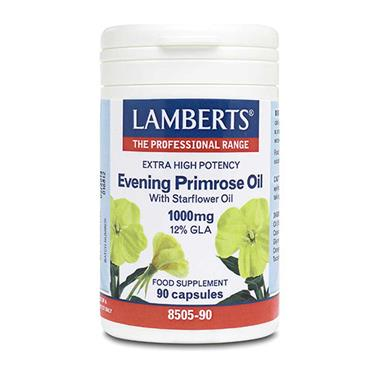 Lamberts Extra High Potency Evening Primrose Oil 1000mg 90 Capsules