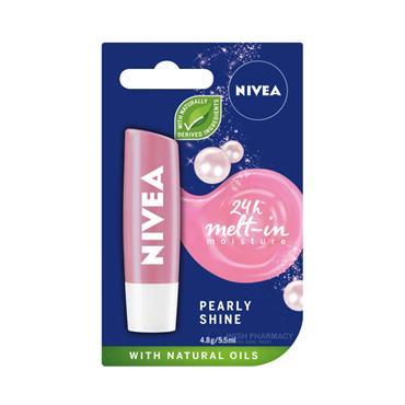 Nivea Pearly Shine Caring Lip Balm 4.8g