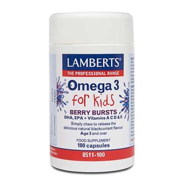 Lamberts Omega 3 For Kids Berry Bursts 100 Tabs