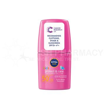 Nivea Sun Kids Protect & Care SPF50+ Coloured Roll-On Pink 50ml
