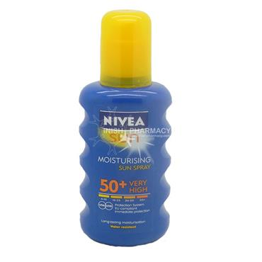 Nivea Sun Moisturising Spray SPF 50+ Very High 200ml