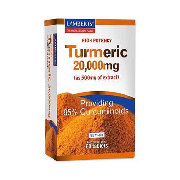 Lamberts High Potency Turmeric 20000mg 60 Tabs