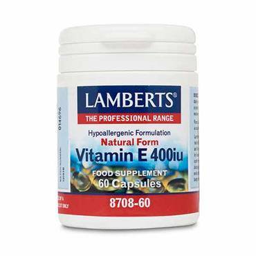 Lamberts Natural Form Vitamin E 400iu 60 Caps