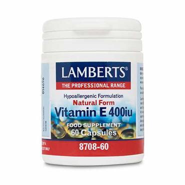 Lamberts Natural Form Vitamin E 400iu 60 Caps