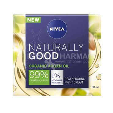 Nivea Naturally Good Organic Argan Oil Regenerating Night Cream 50ml